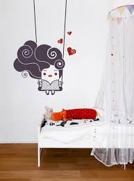 beautiful minimalist kids bedroom design scheme with idyllic wall