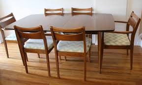 mid century modern dining table set kitchen mid century modern dining chair set and broyhill brasilia