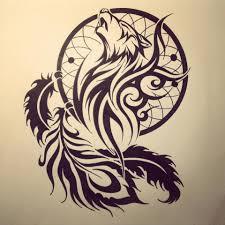catcher tribal wolf stencil idea tattooshunter com