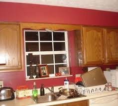 ideas fabulous red wall kitchen colors painted with brown wood