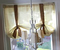 burlap valance that gives your room an extra allure best
