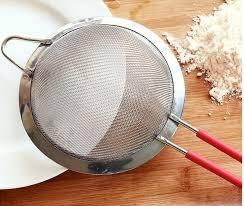 poudre de riz cuisine 14 cm maille ultra en acier inoxydable tamis farine poudre