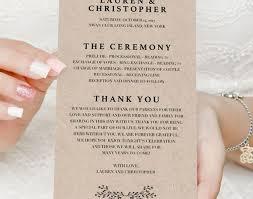 wedding stunning printable wedding programs free printable