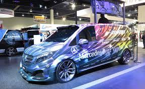 mercedes customized mercedes shows four customized vans at sema autoguide com