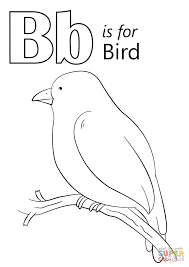 letter b is for bird coloring page free printable coloring pages
