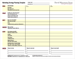 marketing strategy templates u2013 15 sample example format