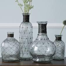 bud vase garland wire bottle bud vases west elm