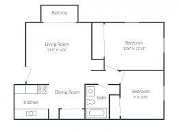 Bedroom Floor Plan Richmond Hills Apartments