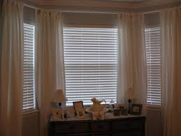 blinds or curtains for bay window home design ideas