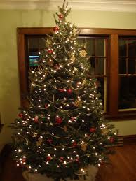 White Christmas Tree With Red And Gold Decorations J U0026k Homestead O Christmas Tree Part 2