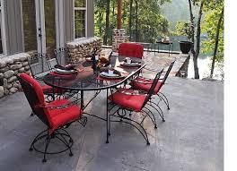 50 off meadowcraft dogwood dining set wrought iron patio furniture