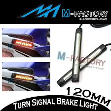 for fz1 fz6 fz8 ybr125 xt1200 rear brake amber indicator 12cm led