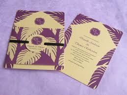 wedding invitations island purple and gold island wedding with a twist imbue you i do