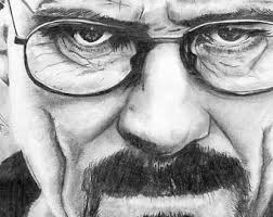 original pencil drawing walter white after