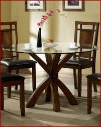 Circular Dining Room Table Round Glass Top Dining Table Wood Base Foter