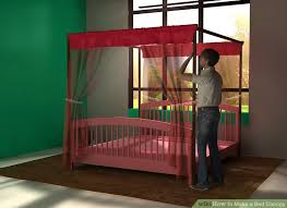 Make A Bed 3 Ways To Make A Bed Canopy Wikihow