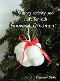 sensory snowball ornament can make preschool toolkit