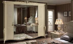 Design Spiegel Schlafzimmer Klassischer Kleiderschrank 6 Türen Mit Spiegel Ideal Für