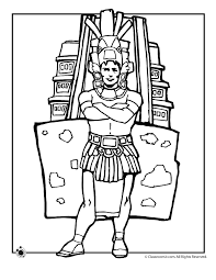 mexican coloring pages mexican independence day aztec history woo jr kids activities