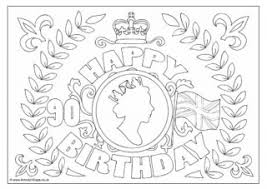 queen u0027s 90th birthday colouring 2 90 90