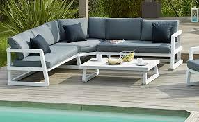 canape jardin aluminium stunning salon de jardin alu alinea contemporary amazing house