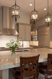 appealing chandelier over kitchen island countertops table