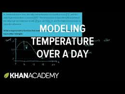 trig word problem modeling daily temperature video khan academy