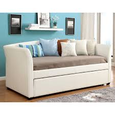 furniture of america roby leatherette daybed with trundle hayneedle