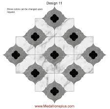 waterjet tile design 11 medallionsplus com floor medallions