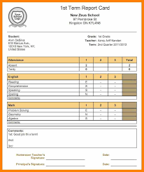 report card format template 11 report card template pdf format of notice