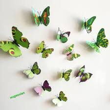 12pcs 3d pvc butterflies diy butterfly art decal home decor wall