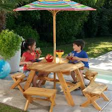 Kids Patio Table by Kids Picnic Table With Umbrella Patio Table And Stools With