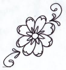 photos simple flower designs images drawing art gallery