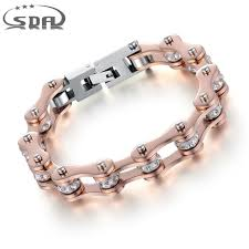 rose stainless steel bracelet images Sda high quality motorcycle chain bracelet for women ip rose gold jpg