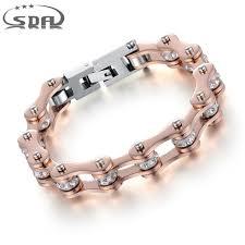 rose stainless steel bracelet images Sda high quality motorcycle chain bracelet for women ip rose gold jpg