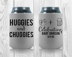 shower koozie huggies and chuggies baby shower custom koozies