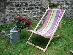 chaise longue transat chaise longue transat en toiles du soleil brocanteo la