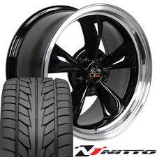 Black Mustang Black Rims Black Wheels Nitto Tires Fit Ford Mustang 17x8 Bullitt Style