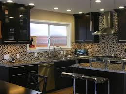 Espresso Kitchen Cabinets Two Tone Kitchen Cabinets With Black And White Colors