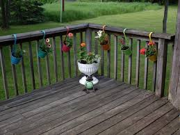 awesome black iron planter deck railing planter flower box large
