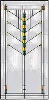 Frank Lloyd Wright Style Vertical Stained Glass Window With Design Inspired By Frank Lloyd