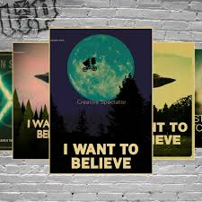 believe home decor aliexpress com buy vintage classic movie the x files i want to