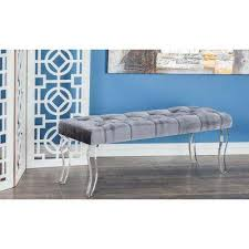 Gray Bedroom Bench Gray Bedroom Benches Bedroom Furniture The Home Depot