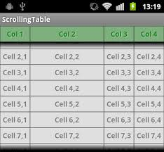 xamarin android table layout scrolling table part 1 styling android