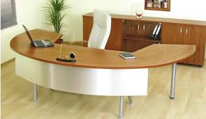 Funky Reception Desks Furniture Office Attractive Curved Apart Tabletop For