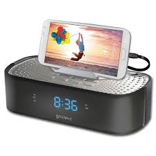 groov e time curve alarm clock radio with usb charging station