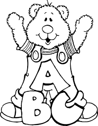 abc bear bears teddy bears and letters coloring page wecoloringpage