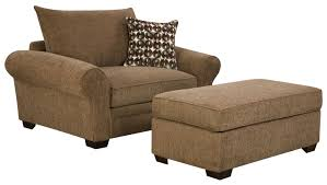 Comfortable Chair And Ottoman Large Chair And A Half Ottoman Set For Casual Styled
