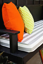lawn garden cheerful outdoor bench seat cushions black stained