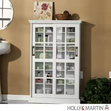 Bookcase With Sliding Glass Doors by Holly U0026 Martin Emerson Sliding Door Media Cabinet White Fss